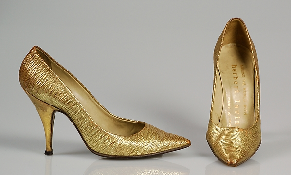 Evening pumps, Beth Levine (American, Patchogue, New York 1914–2006 New York), Leather, American