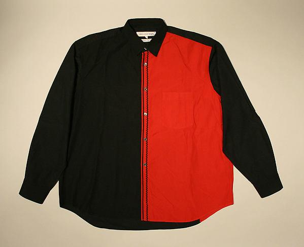 Shirt, Comme des Garçons (Japanese, founded 1969), cotton, Japanese