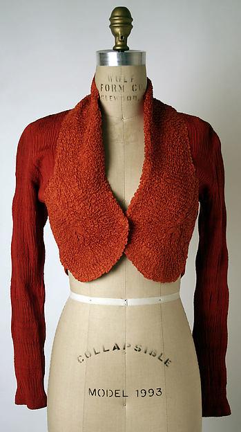 Bolero, Elsa Schiaparelli (Italian, 1890–1973), silk, French
