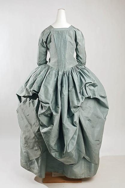 Robe à la Polonaise, silk, British