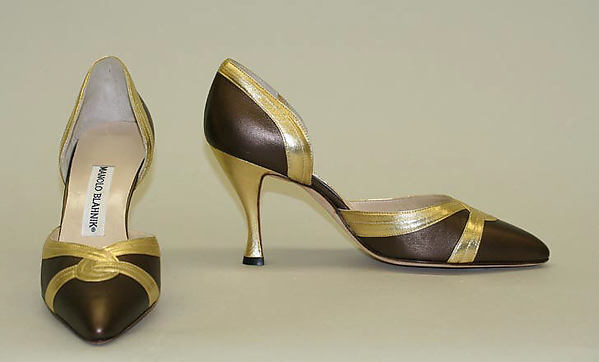 Pumps, Manolo Blahnik (British, born Spain, 1942), leather, British