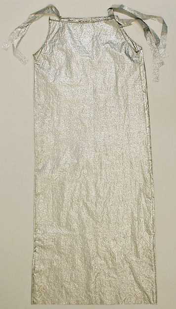 Dress, paper, synthetics, probably American