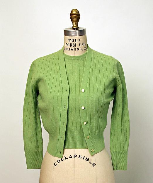 Sweater set, wool, probably British