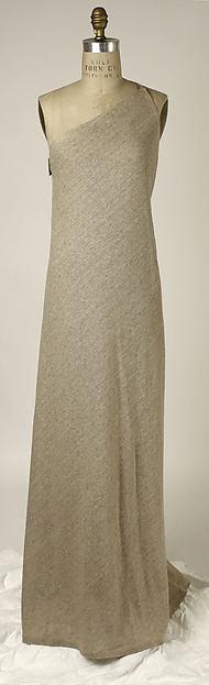 Dress, Giorgio di Sant'Angelo (American, born Italy, 1933–1989), cotton, linen, synthetic, wood, American