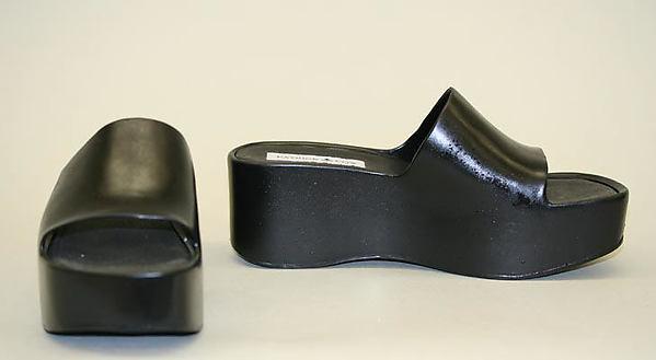 Shoes, Patrick Cox (British, born Canada, 1963), plastic, British