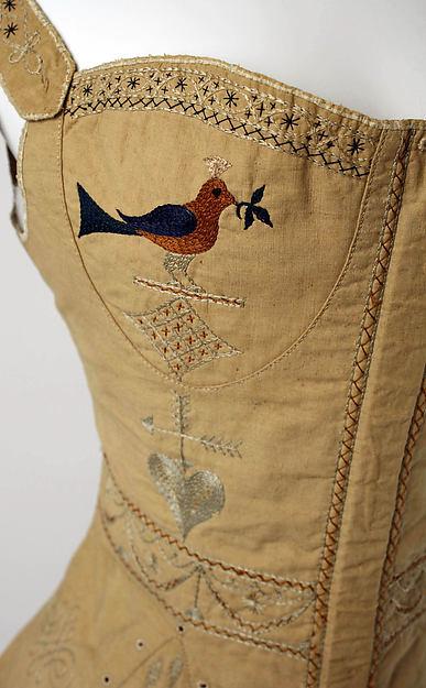 Corset, Cotton, silk, American