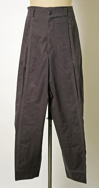 Trousers, Gianni Versace (Italian, 1946–1997), cotton, Italian