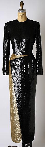 Dress, Geoffrey Beene (American, Haynesville, Louisiana 1927–2004 New York), plastic sequin, silk, American