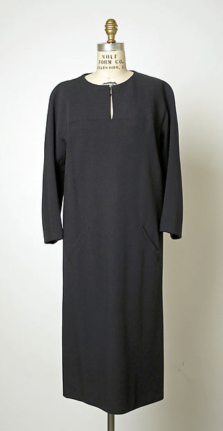 Dress, House of Balenciaga (French, founded 1937), wool, French