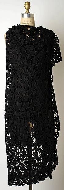 Dress, Yohji Yamamoto (Japanese, born Yokohama, 1943), a) cotton; b) cotton; c)cotton/synthetic blend, Japanese