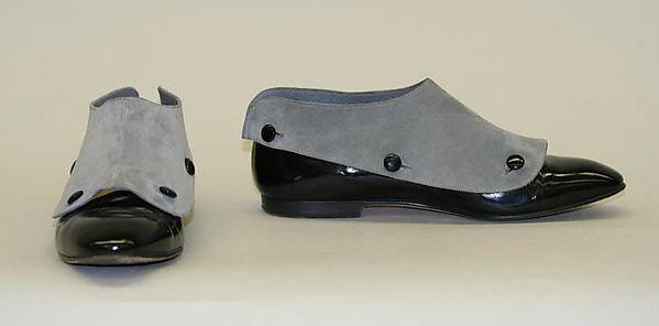 Shoes, Manolo Blahnik (British, born Spain, 1942), a,b) leather, British