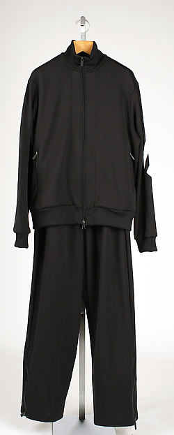 Athletic suit, Y-3 (Japanese and German, founded 2002), a) polyester/cotton blend, rubber; b) cotton, polyester; c) polyester/cotton blend, rubber, nylon, Japanese