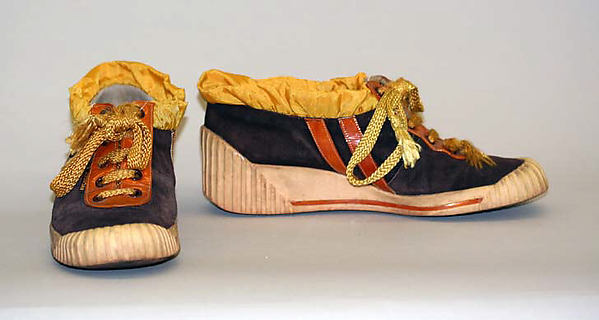 Sneakers, House of Charles Jourdan (French, founded 1919), a,b) leather, plastic, rubber, synthetic, French