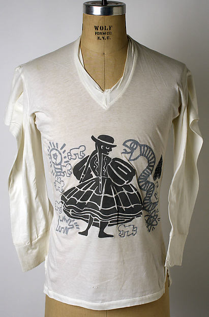 """Keith Haring"", Vivienne Westwood (British, born 1941), cotton, British"