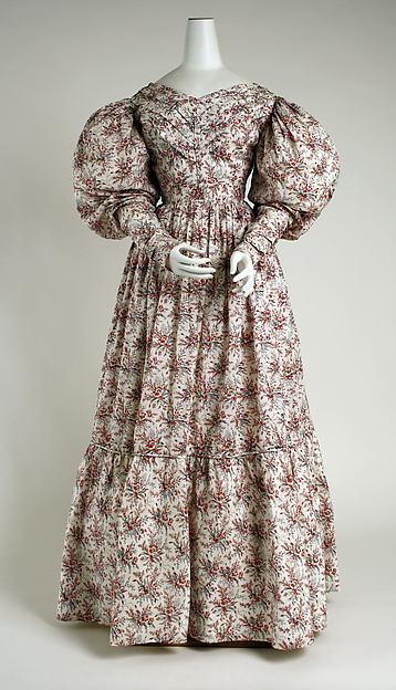 Dress, cotton, British