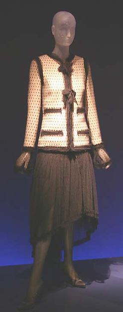 Evening suit, House of Chanel (French, founded 1913), a) wool, silk; b) silk, French