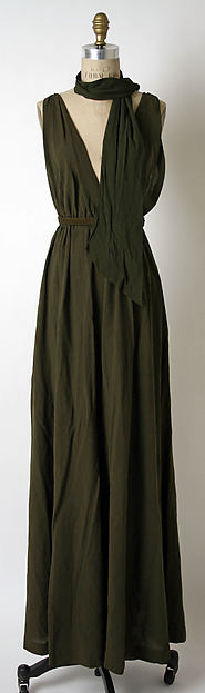 Dress, James Galanos (American, Philadelphia, Pennsylvania, 1924–2016 West Hollywood, California), a,c) silk; b) leather, American