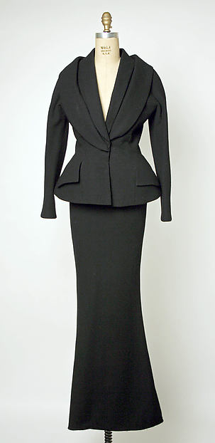 Evening suit, House of Dior (French, founded 1947), (a,b) wool, silk, French