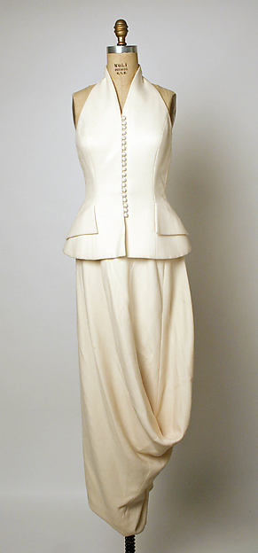 Evening ensemble, House of Dior (French, founded 1947), a) wool, silk; b) wool, French