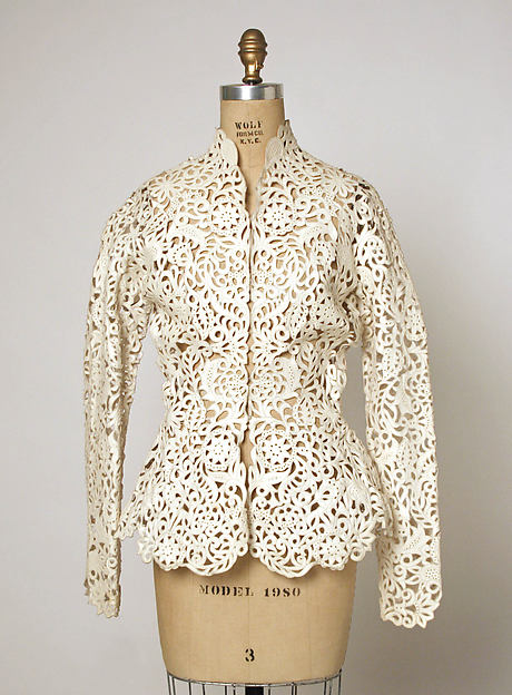 Jacket, House of Dior (French, founded 1947), leather, silk, French