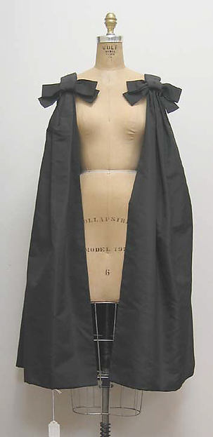 Cocktail cape, House of Dior (French, founded 1947), silk, French
