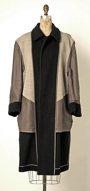 Coat, Comme des Garçons (Japanese, founded 1969), wool, synthetic, cotton, Japanese