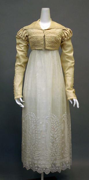 Ensemble, silk, cotton, British