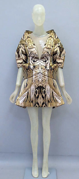 Ensemble, Alexander McQueen (British, founded 1992), silk, synthetic, British