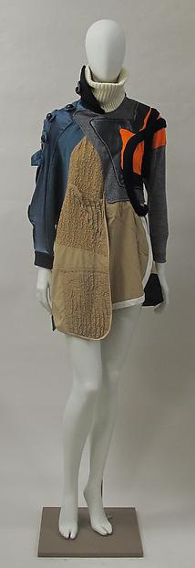 Dress, House of Balenciaga (French, founded 1937), wool, cotton, synthetic, metal, French