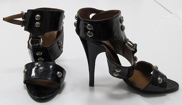 Sandals, Vivienne Westwood (British, born 1941), leather, metal, British