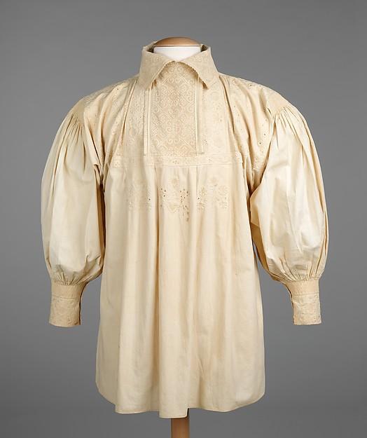 Wedding shirt, cotton, Spanish