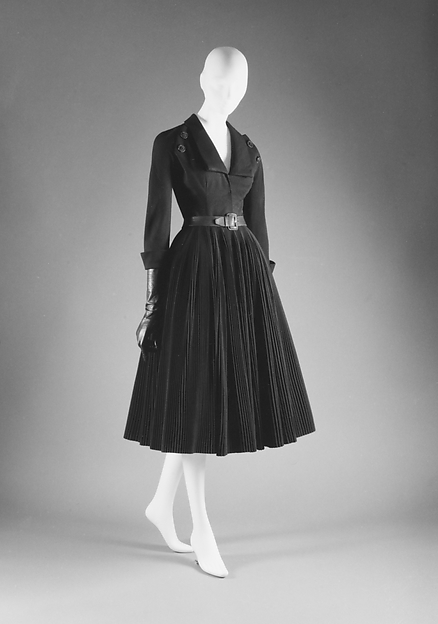 Cocktail dress, House of Dior (French, founded 1947), (a) wool