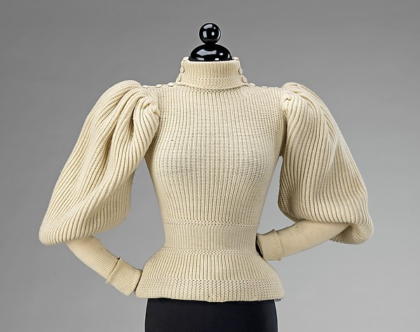 Sweater, wool, probably American