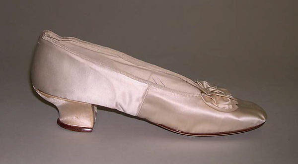 Slippers, silk, American