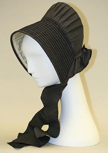 Bonnet, silk, American