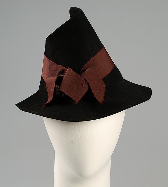 Hat, Louise Balarun (French), Wool, hair, silk, French