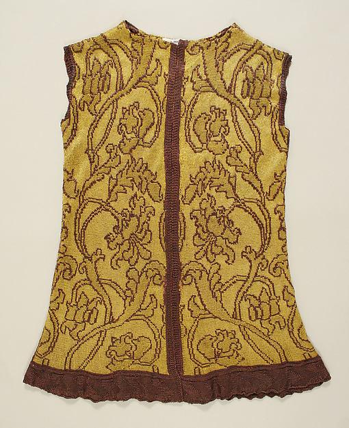 Jacket, silk, metallic thread, Italian