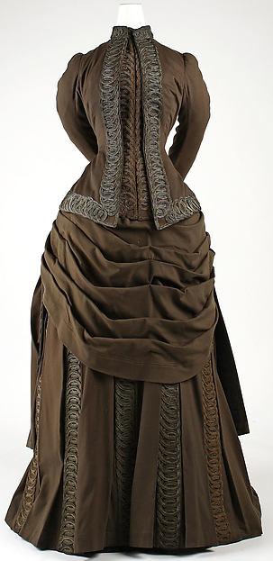 Ensemble, Redfern (1847–1940), wool, silk, cotton, metallic thread, French