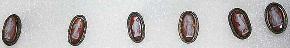 Button, metal, Italian