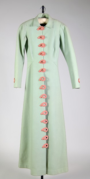 Evening coat, Elsa Schiaparelli (Italian, 1890–1973), Wool, silk, French