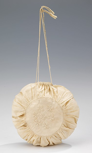 Reticule, cotton, American