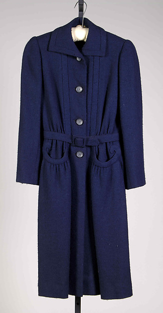 Coat, Mainbocher (American, 1890–1976), Wool, American