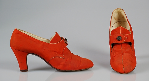 Evening shoes, Silk, probably French