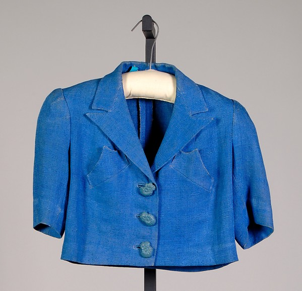 Jacket, House of Schiaparelli (French, founded 1928), Linen, French