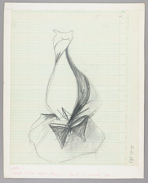 Charles James | Sketch, Balloon Ball Gown | American | The Met