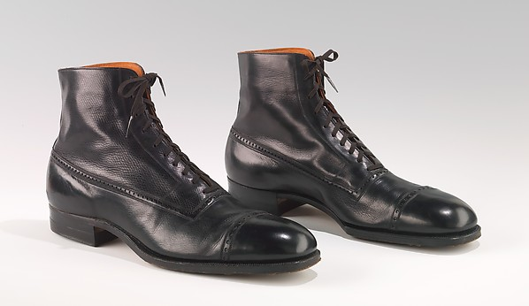 Balmorals, Attributed to Hurd Shoe Co., leather, American