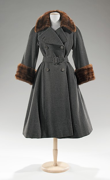 Coat, Norman Norell (American, Noblesville, Indiana 1900–1972 New York), wool, fur, American