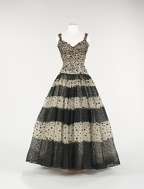Evening dress, House of Balenciaga (French, founded 1937), silk, French