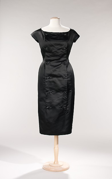 Cocktail dress, House of Dior (French, founded 1947), silk, French