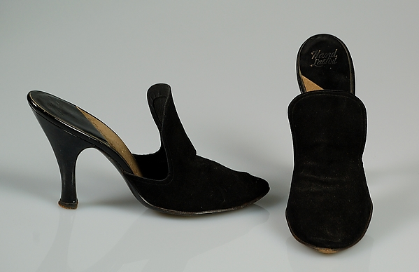 Mules, Beth Levine (American, Patchogue, New York 1914–2006 New York), Leather, American
